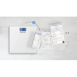 Весы ONETRAK CB-502BT White стекло, точность 0,1кг, макс. 180кг, авто вкл/выкл, Bluetooth