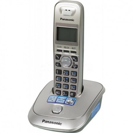 Радиотелефон Panasonic KX-TG2511RUN платиновый/черный 1трубка/50м/300м/АОН/книга 50номеров/спикерфо