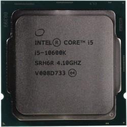 Процессор 1200 Intel Core i5-10600K (6ядер/12потоков*4,1ГГц-4,8ГГц,12Мб,UHD630,125Вт,oem)
