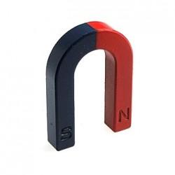 Магнит U-образный, 70*50*12*12мм, красный/синий