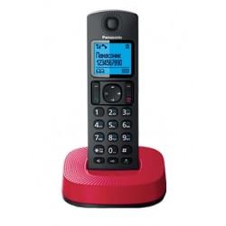 Радиотелефон Panasonic KX-TGC310 RUR,красно-черный 1трубка/АОН/книга 50номеров/спикерфон/16-200ч/Рад