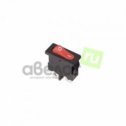 Переключатель клавишный ON-OFF, прямоугольный, 21,4*9,6мм, AC 250в, 6а, Rexant 36-2051 (RWB-103)
