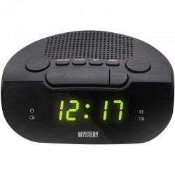Радиобудильник Mystery MCR-21 Black/green 24ч. формат, таймер, будильник, FM