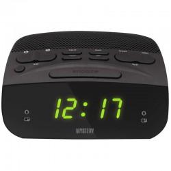 Радиобудильник Mystery MCR-23 Black/green 24ч. формат, таймер, будильник, FM