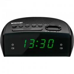Радиобудильник Mystery MCR-25 Black/green 24ч. формат, таймер, будильник, FM