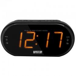 Радиобудильник Mystery MCR-69 Black/amber 24ч. формат, таймер, будильник, FM