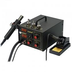 Паяльная станция KADA 852D+, паяльник 200..480°С, фен компрессорный 100..450°С, 580вт