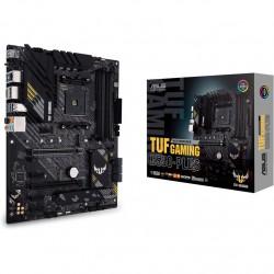 Материнская плата ASUS TUF GAMING B550-PLUS,  Socket AM4, B550, 4*DDR4, HDMI+DP, CrossFireX, SATA3 + RAID, Audio, 2,5Gb LAN, USB 3.2*8, USB 2.0*6, COM*1 header (w/o cable) ATX ; 90MB14G0-M0EAY0