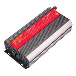 Автоинвертор Digma DCI-1000 1000Вт, 12В, от АКБ, порт USB