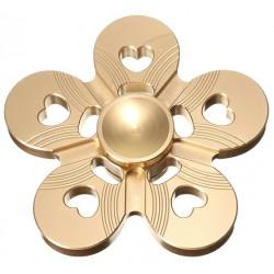 Спиннер, 5 лепестков, металл, золотой