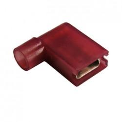 Разъем флажковый «мама» изолированный (РФИ-М(н) 1-6.3) 0.5-1.0кв.мм b=6.3мм красный