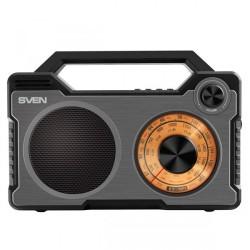 Радиоприемник SVEN SRP-755, черный, 8Вт, Bluetooth, FM/AM/SW, USB, microSD, встроенный аккумулятор