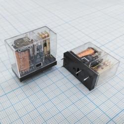 Реле электромагнитное DC 12в, 10а, SPDT, 29*13*25.5мм, Omron G2R-1 12VDC