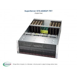Supermicro SuperServer 4U 4029GP-TRT noCPU(2)Scalable/TDP 70-205W/ no DIMM(24)/ SATARAID HDD(24)SFF/ 2x10GbE/ support up to 8 double width GPU/ 4x2000W