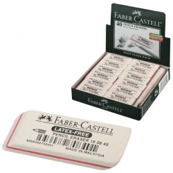 """Ластик Faber-Castell """"Latex-Free"""", скошенный, синтетический каучук, 50*19*8мм (180840)"""