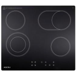 Варочная поверхность Ascoli HH604-02AGB Black, 6кВт, 58х51см, 4 конфорки, Hi Light