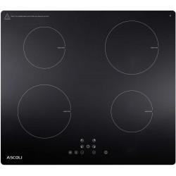 Варочная поверхность Ascoli HI604-32AB Black, 5.9кВт, 59х51см, 4 конфорки, Hi Light