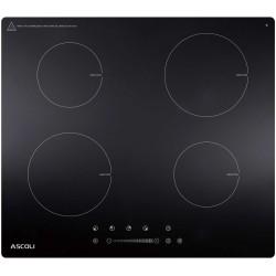 Варочная поверхность Ascoli HI604S-31AB Black, 7кВт, 59х52см, 4 конфорки, Hi Light