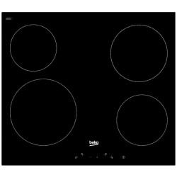Варочная поверхность Beko HIC 64401 Black, 6.8кВт, 58х51см, 4 конфорки, Hi Light