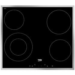 Варочная поверхность Beko HIC 64402X Black, 6.7кВт, 58х51см, 4 конфорки, Hi Light