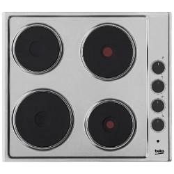 Варочная поверхность Beko HIZE 64101 X Silver, 7кВт, 56 x 49 см, 4 конфорки, электрические конфорки
