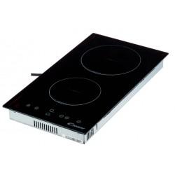 Варочная поверхность Candy CDH30 Black, 3кВт, 28.80х52см, 2 конфорки, Hi Light