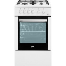 Плита газовая Beko FFSS 52000 W White 4 конфорки газ, духовка 60л, 50х85х60, механ. управл.