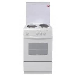 Плита электрическая De luxe 5003.17э КР White 4 конфорки, духовка 43л, 50x50x85, механ. управление