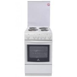 Плита электрическая De luxe 506004.03Э(КР) White 4 конфорки, духовка 54л, 50x60x85, механ. управление