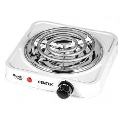 Плита настольная Centek CT-1508 White 1000Вт, конфорок-1, упр. механическое
