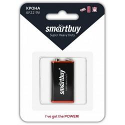 Батарейка 6F22(крона) Smartbuy 1 шт./9В. солевая
