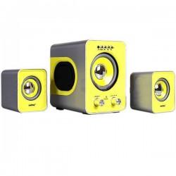 Актив.колонки 2.1 SmartBuy Buzz SBA-2610 12Вт, FM, MP3, SD/USB, пульт ДУ, Черный/желтый