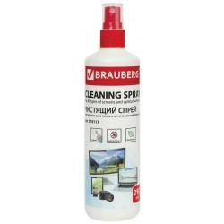 Спрей чистящий BRAUBERG для экранов всех типов и оптики, 250 мл, 510117