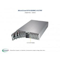 Supermicro MicroCloud 3U 5039MC-H12TRF 12xNodes per node: 1xXeon E-22**/ no memory(4)/2x 3.5 or 4x 2.5 HDD/SSD/ 2xGE/ 4x2000W
