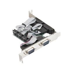 Контроллер PCI-E=>Com x4 ExeGate EXE-310 OEM