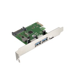 Контроллер PCI-E=>USB 3.0x2 ext + 1*Type-C ExeGate EXE-323 OEM
