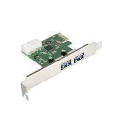 Контроллер PCI-E=>USB 3.0x2 ext ExeGate EXE-319 OEM