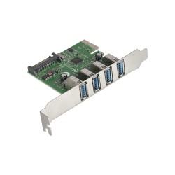 Контроллер PCI-E=>USB 3.0x4  ExeGate EXE-314 OEM