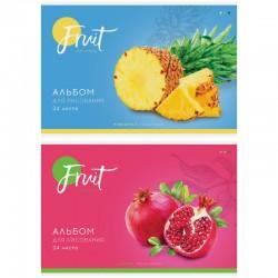 """Альбом для рисования 24л. """"Фрукты. Colorful fruits"""" Спейс (А24 26216)"""