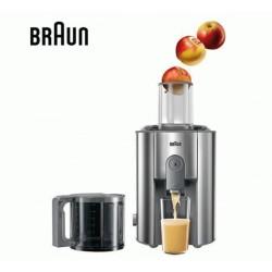 Соковыжималка Braun J700 Silver центробежная, 1000Вт, объем 2л, стакан 1.25л