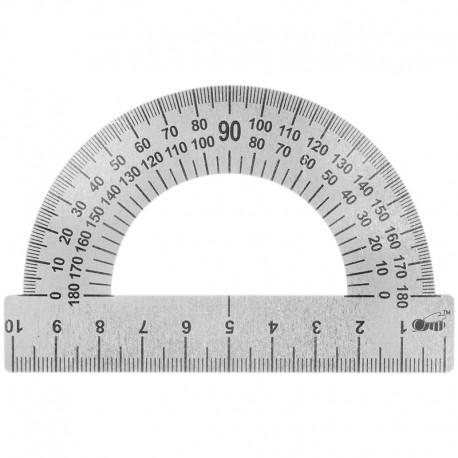 Транспортир 10см. Спейс металлический (ТС-10) (ТС-10-532)