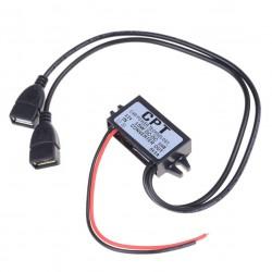 Преобразователь напряжения 12/24-5В 3А 2*USB