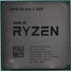 Процессор AMD AM4 Ryzen 3 3100 (4ядра/8потоков*3,6ГГц-3,9ГГц,16Мб, 65Вт,oem)