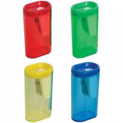 Точилка Спейс 1 отверстие, пластиковая, контейнер (SH2115 1873)