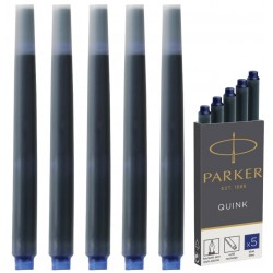 """Чернильный картридж """"Parker Quink"""", синий, 5шт., 1950384"""