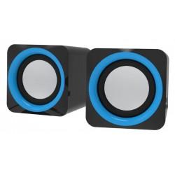 Актив.колонки 2.0 Ritmix SP-2025 5Вт, питание от USB, пластик, Black Blue