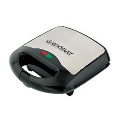 Сэндвичница Endever SM-26 Black/silver 800Вт, антипригарное покрытие, индикатор работы