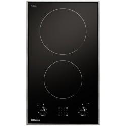 Варочная поверхность Hansa BHCI35133030 Black, 3кВт, 30х52см, 2 конфорки, Hi Light