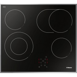 Варочная поверхность Hansa BHCI66706 Black, 6.8кВт, 57.50х50.50см, 4 конфорки, Hi Light