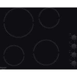 Варочная поверхность Hotpoint-Ariston HR 629 C Black, 6.2кВт, 58х51см, 4 конфорки, Hi Light